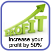 How to increase your profit with 50%