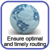How to ensure optimal and timely routing